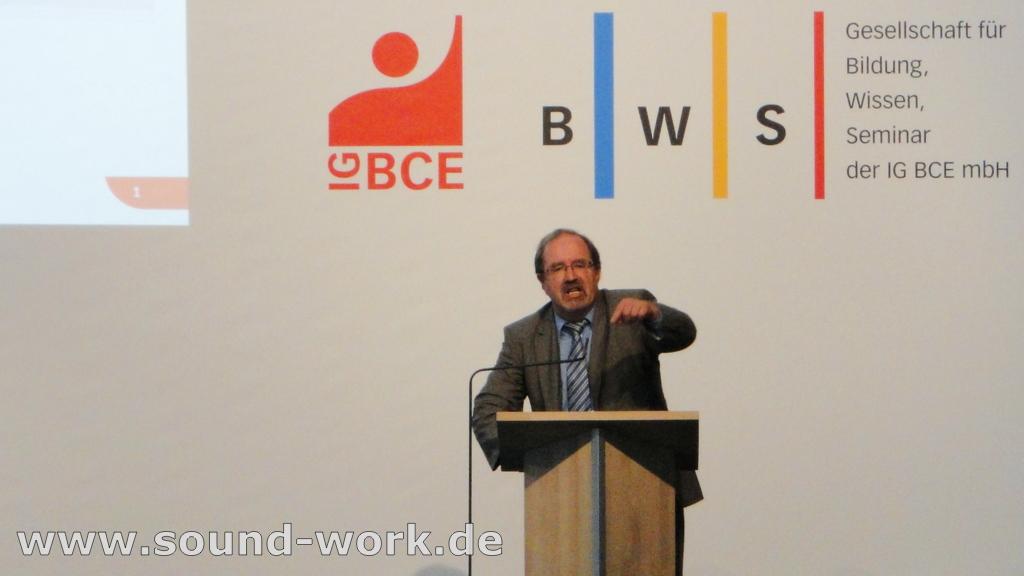 Demografie-Tagung der IG BCE / BWS - Peter Hausmann - 06.06.2013