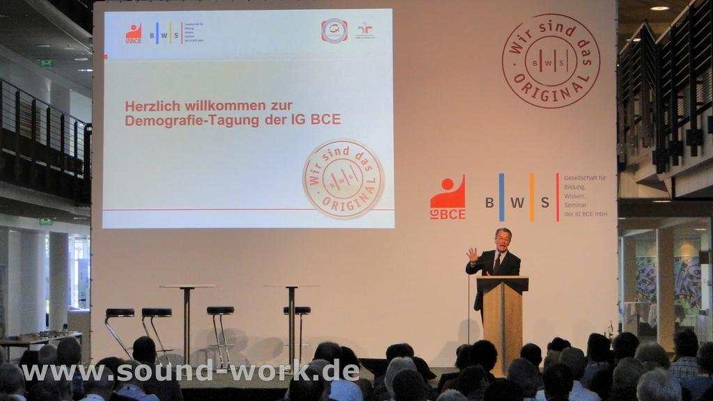 Demografie-Tagung der IG BCE / BWS - Franz Müntefering - 06.06.2013