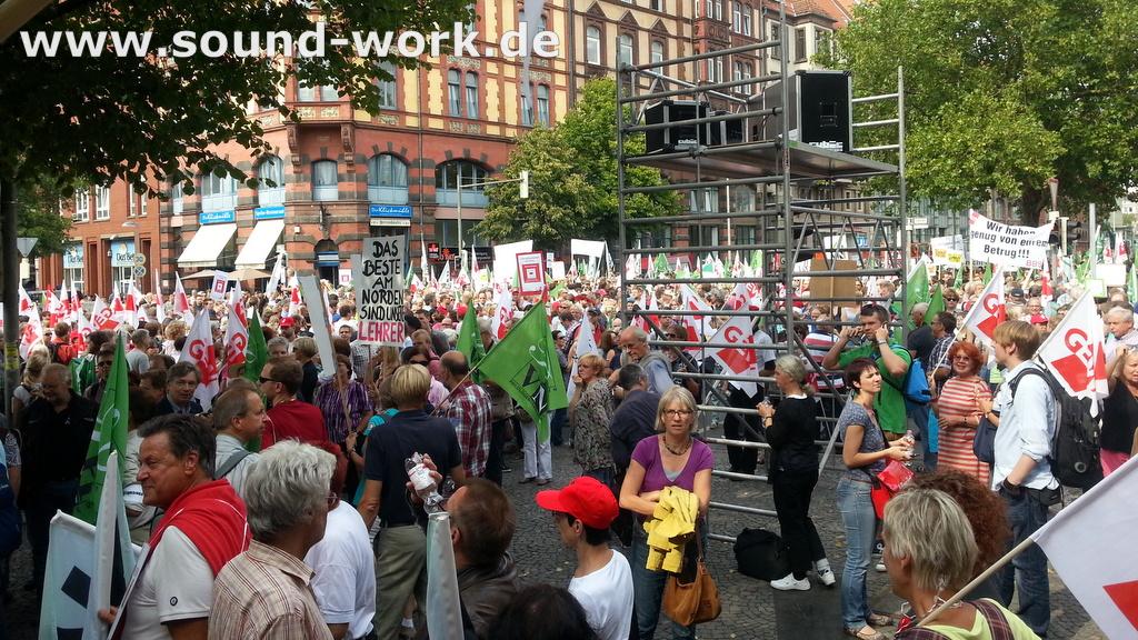 GEW - Kundgebung - DEMO vor dem Niedersächsischen Landtag 29.08.2013