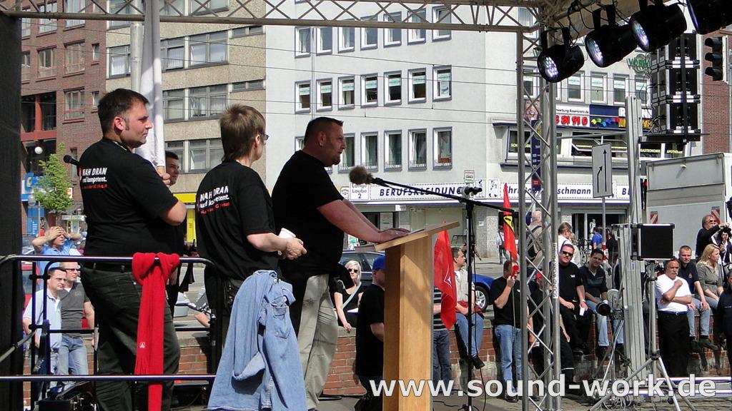 Kundgebung und Warnstreik der IG Metall auf dem Steintorplatz Hannover - Markus Kretschmar - WABCO - 06.05.2013