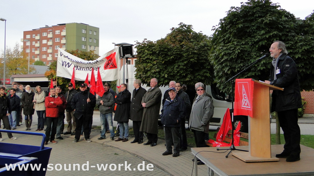 Proteste bei Siemens ...  Große Solidarität – Gute Stimmung! - Dieter Schaefer