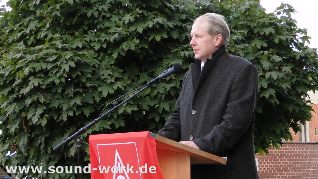 Proteste bei Siemens ...  Große Solidarität – Gute Stimmung! - Stefan Schostok