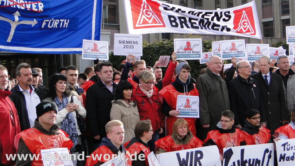 Proteste bei Siemens ...  Große Solidarität – Gute Stimmung! - Siemens Mitarbeiter