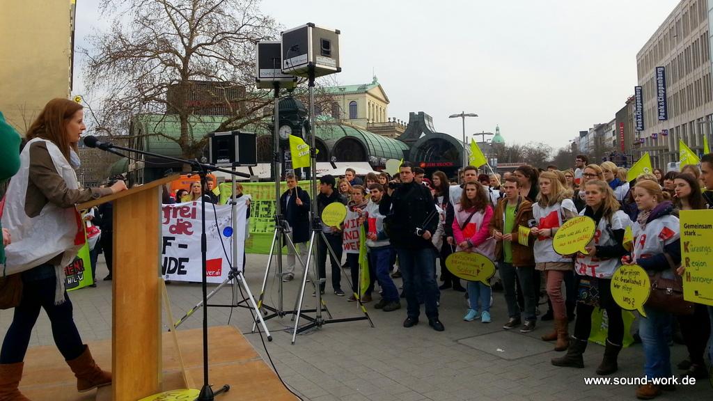 ver.di Jugend - Demo - Tarivrunde 2014 - Kröpke