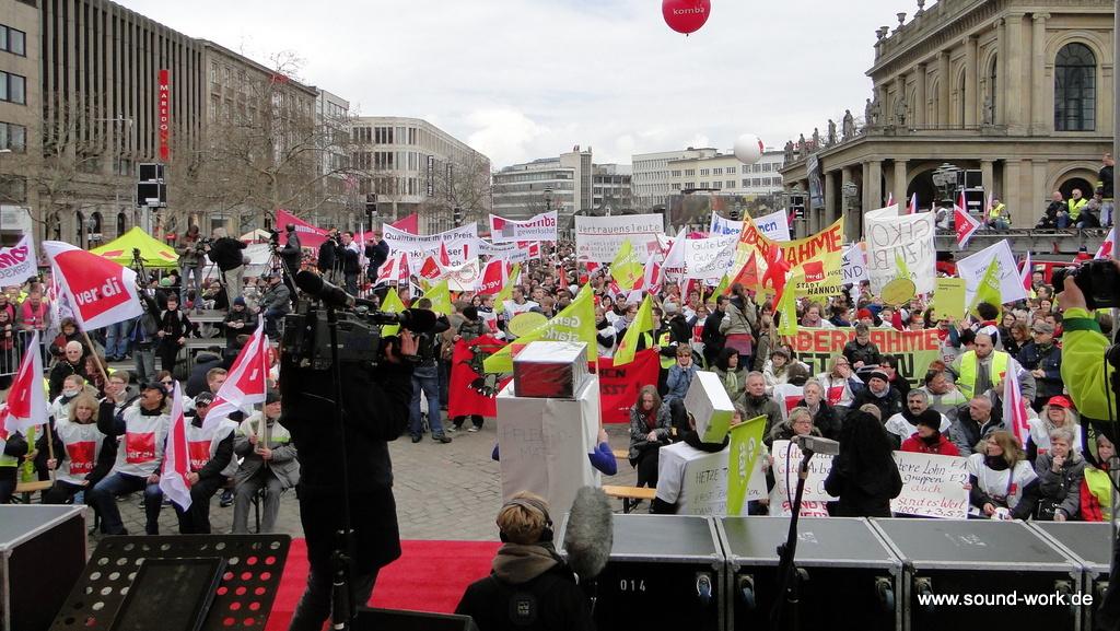 ver.di - Kundgebung - Opernplatz - Hannover - Blick Richtung Kröpke